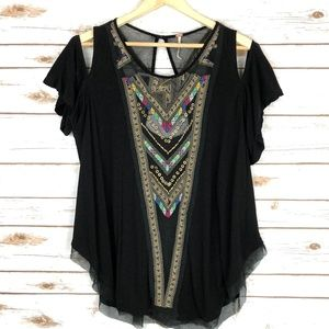Free People Gypsy Spell Cold Shoulder Top Boho